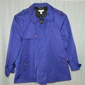 Charter Club Purple Lightweight Windbreaker Jacket